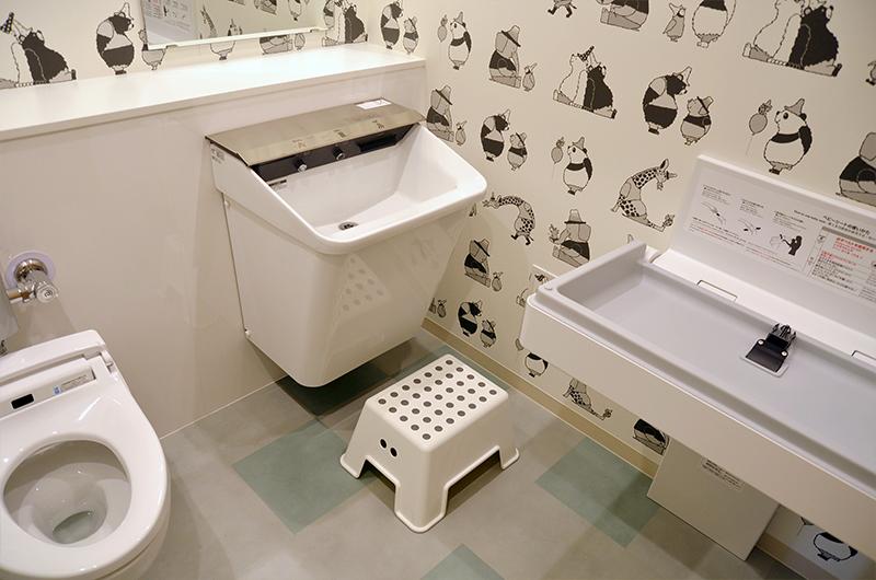 お手洗い・おむつ交換台